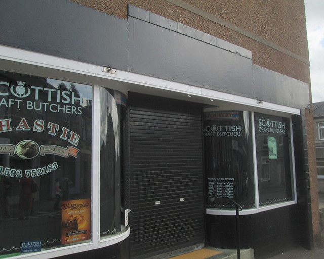 Art Deco Style Butcher's Shop Windows,Markinch