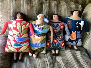 4 Lady Pillow Dolls
