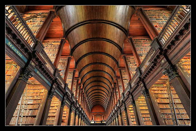 Dublin IR - The Long Room Of The Old Library At Trinity College 07