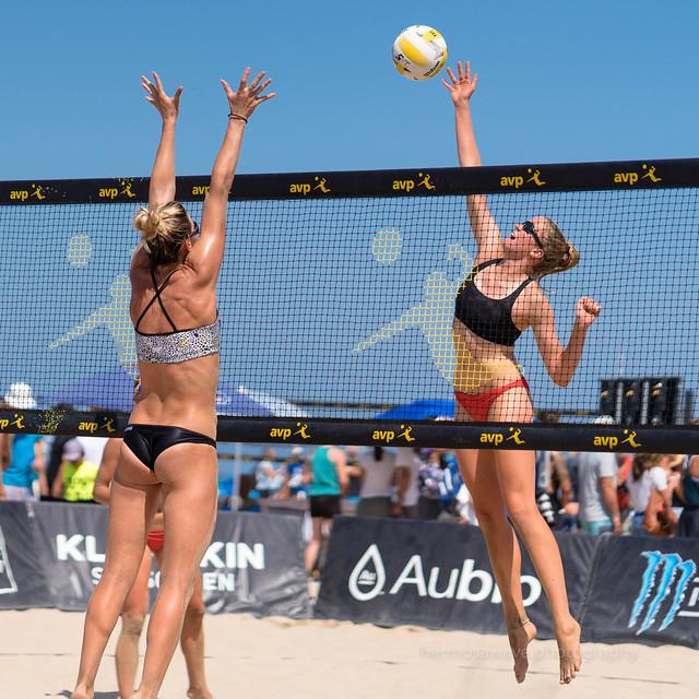 AVP Hermosa Beach Open: Emily Hartong and Megan Kraft(?)