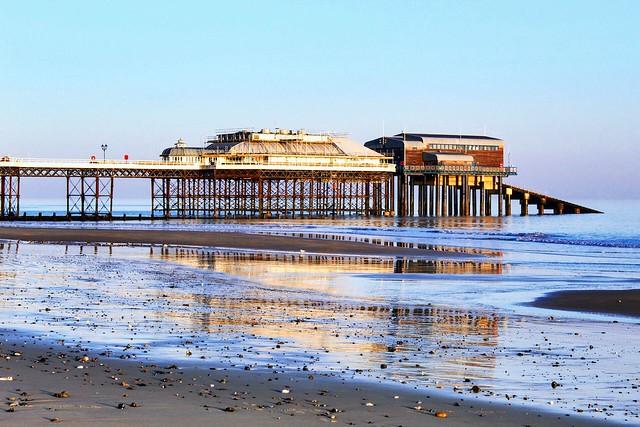 Cromer Pier in the morning light.
