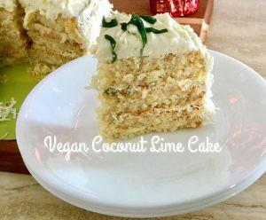 vegan coconut lime cake
