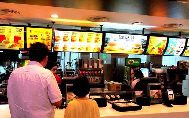 McDonald's Sibu counter