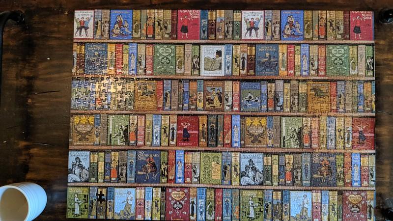 Girl Books Jigsaw Puzzle