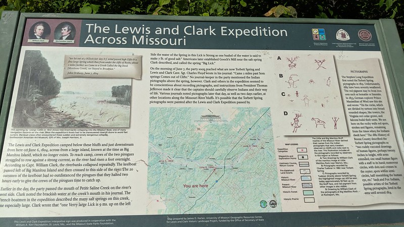 The trail passes several of the places visited by Lewis and Clark on their expedition, including a place where they had camped.