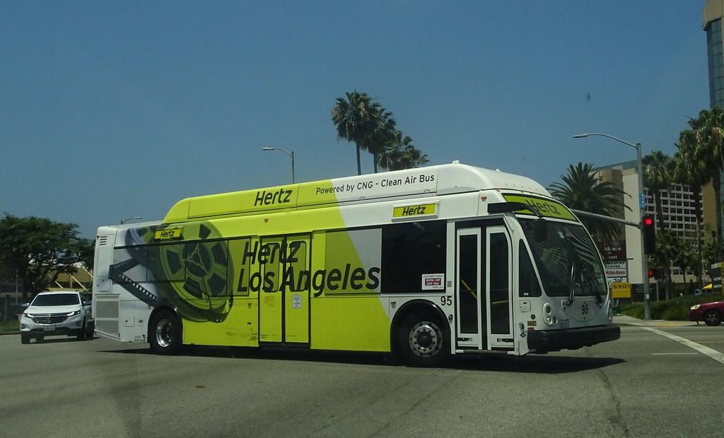 Hertz Car Rental shuttle bus at LAX Airport | rwcar4 | Flickr