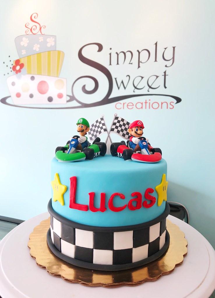 Pleasing Mario And Luigi Racecar Cake A Photo On Flickriver Funny Birthday Cards Online Unhofree Goldxyz