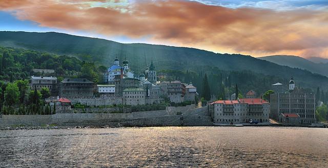 Ιερά Μονή Αγίου Παντελεήμονος(Ρώσικο Μοναστήρι) Άγιον όρος Holy Monastery Saint Panteleimon(Russian Monastery) Sain Mount Athos