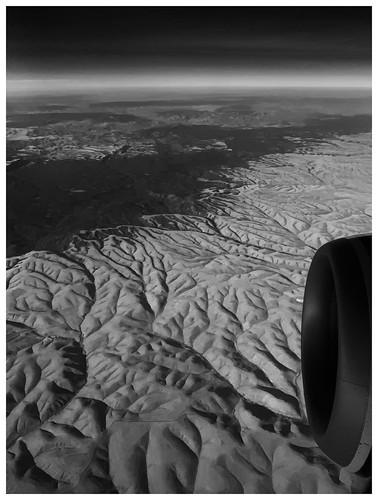 wa landscape wrinkled drainage blackandwhite bw alaskaair camera
