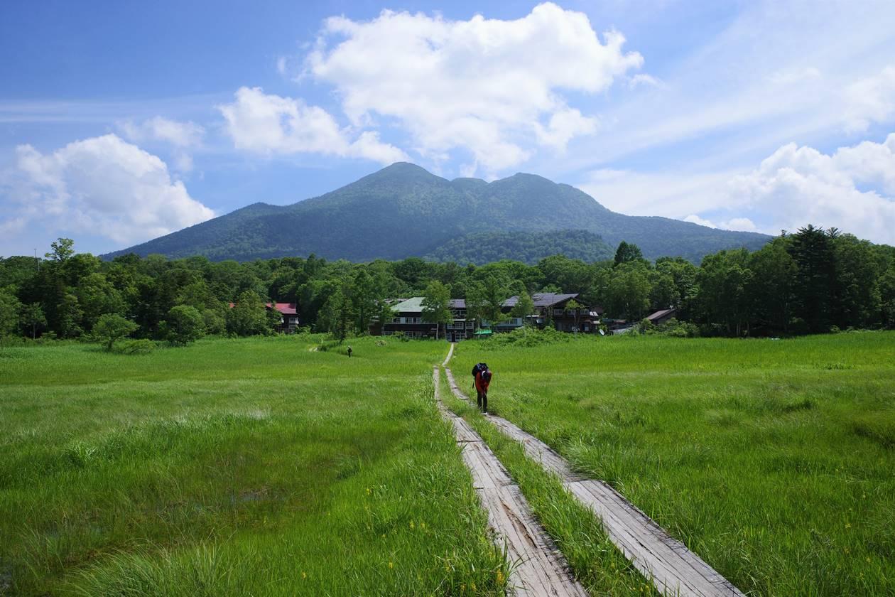 尾瀬ヶ原から眺める燧ヶ岳