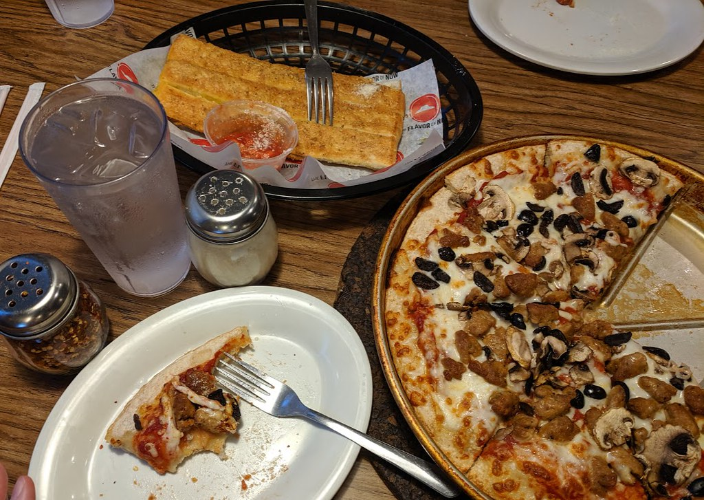 Pizza Hut spread