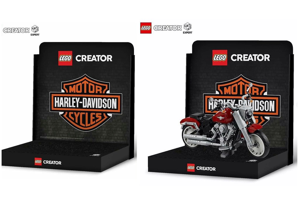 New Lego Creator Harley-Davidson display...