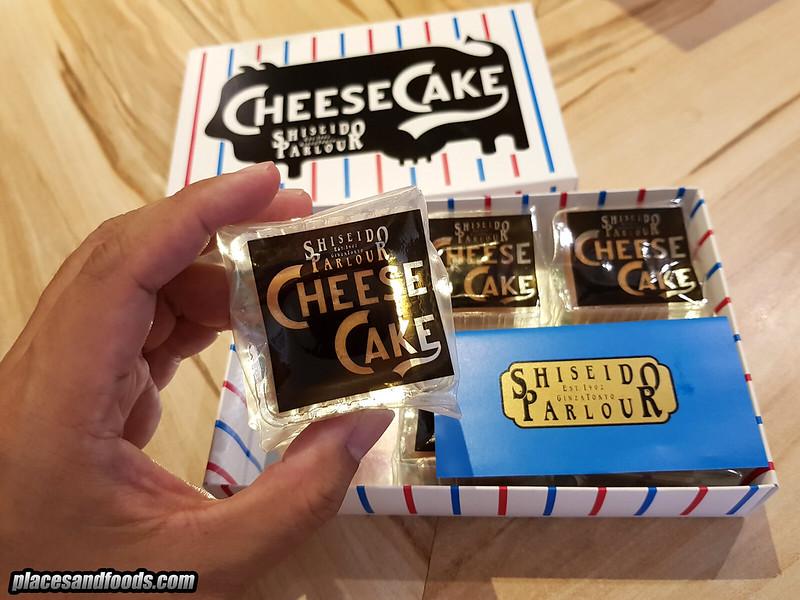 shiseido cheese parlour cheesecake size