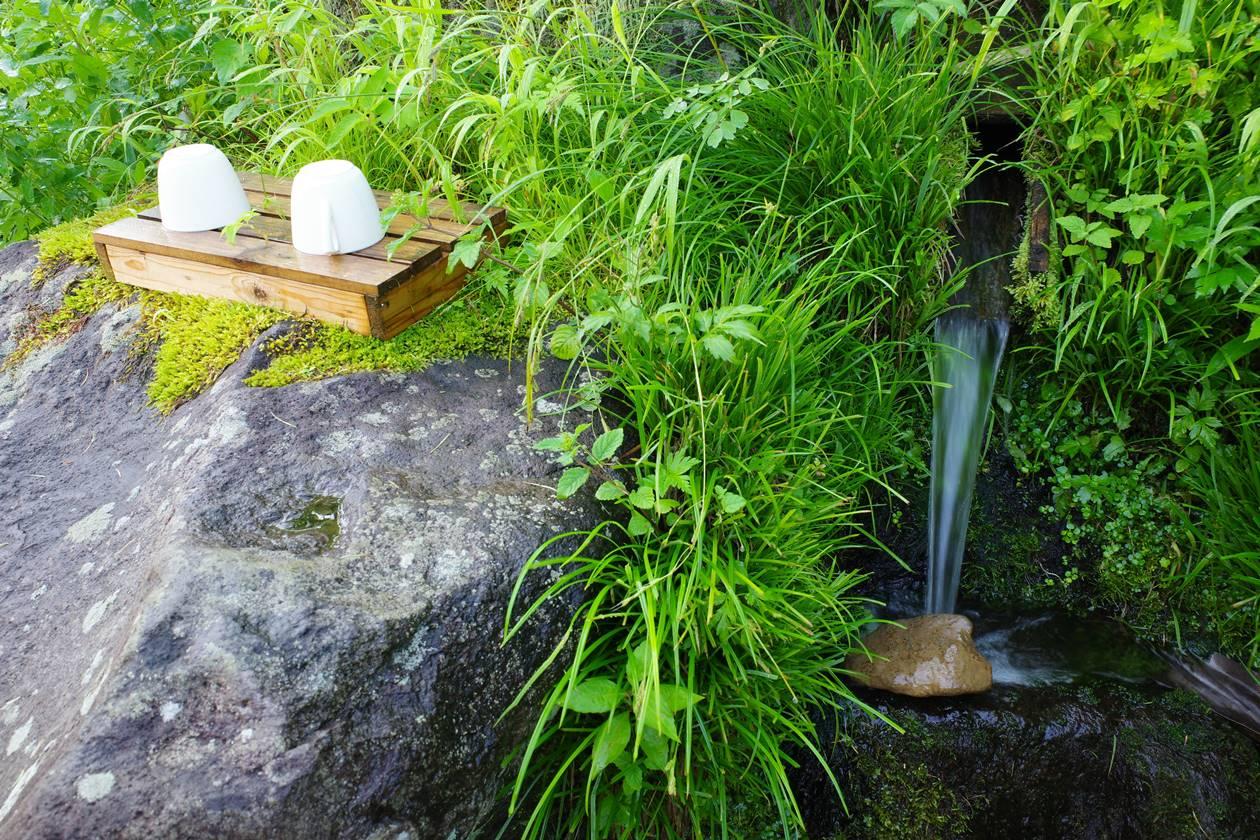長蔵小屋の水場