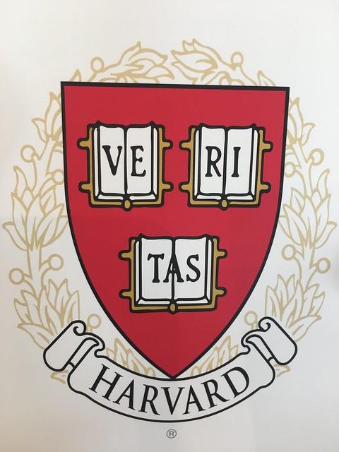 Harvard refrigerator magnet