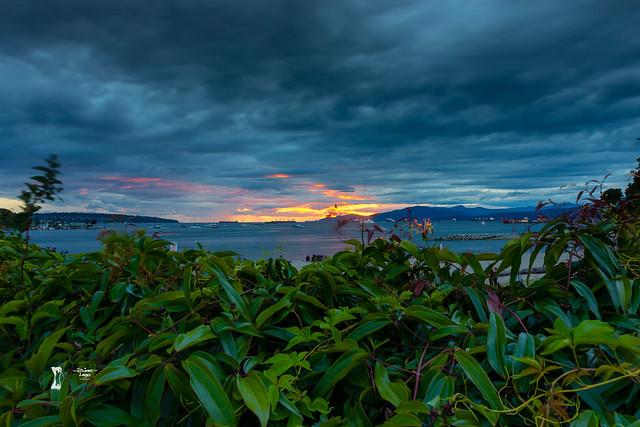 Sunset at English bay.