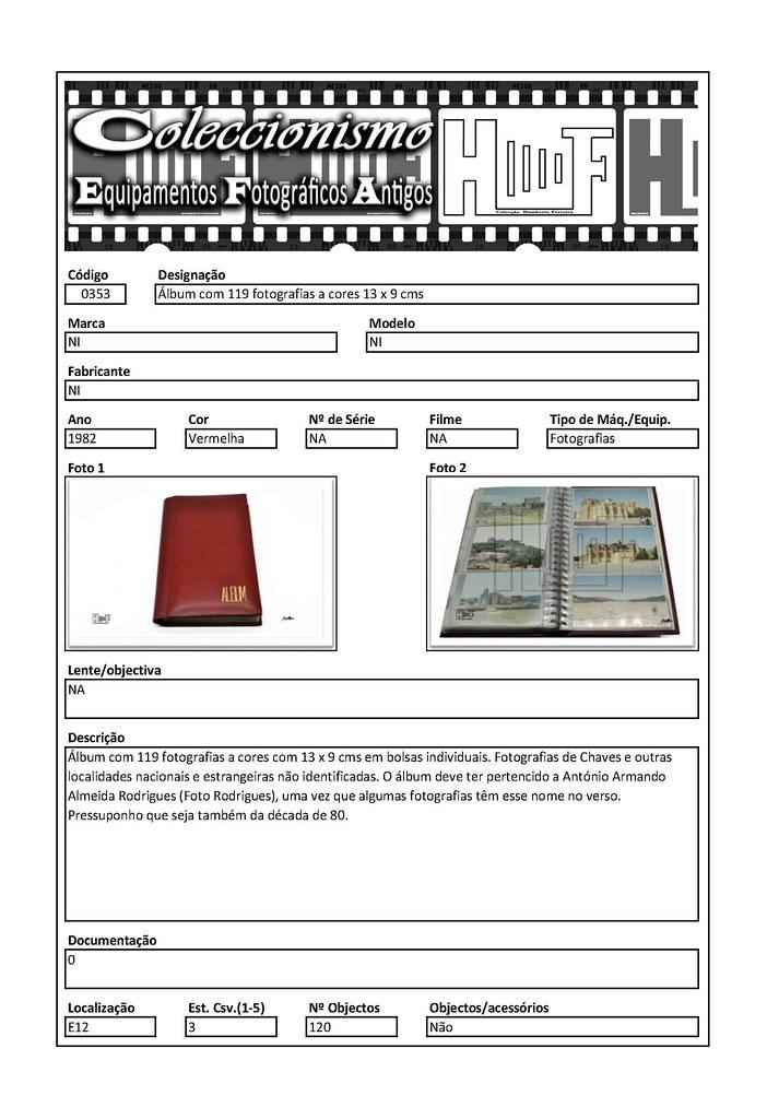 Inventariação da colecção_0353 Álbum com 119 fotografias a cores 13 x 9 cms