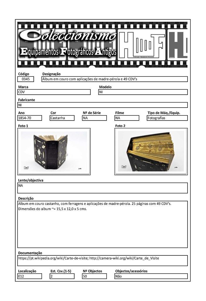 Inventariação da colecção_0345 Álbum em couro com aplicações de madre-pérola e 49 CDV's