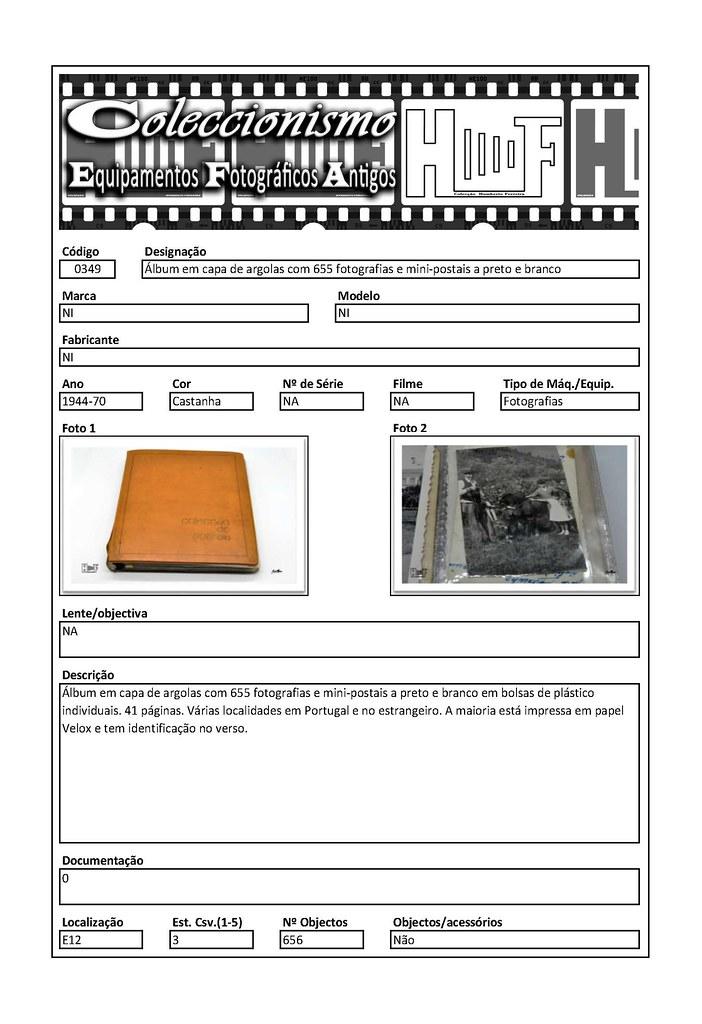 Inventariação da colecção_0349 Álbum em capa de argolas com 655 fotografias e mini-postais a preto e branco
