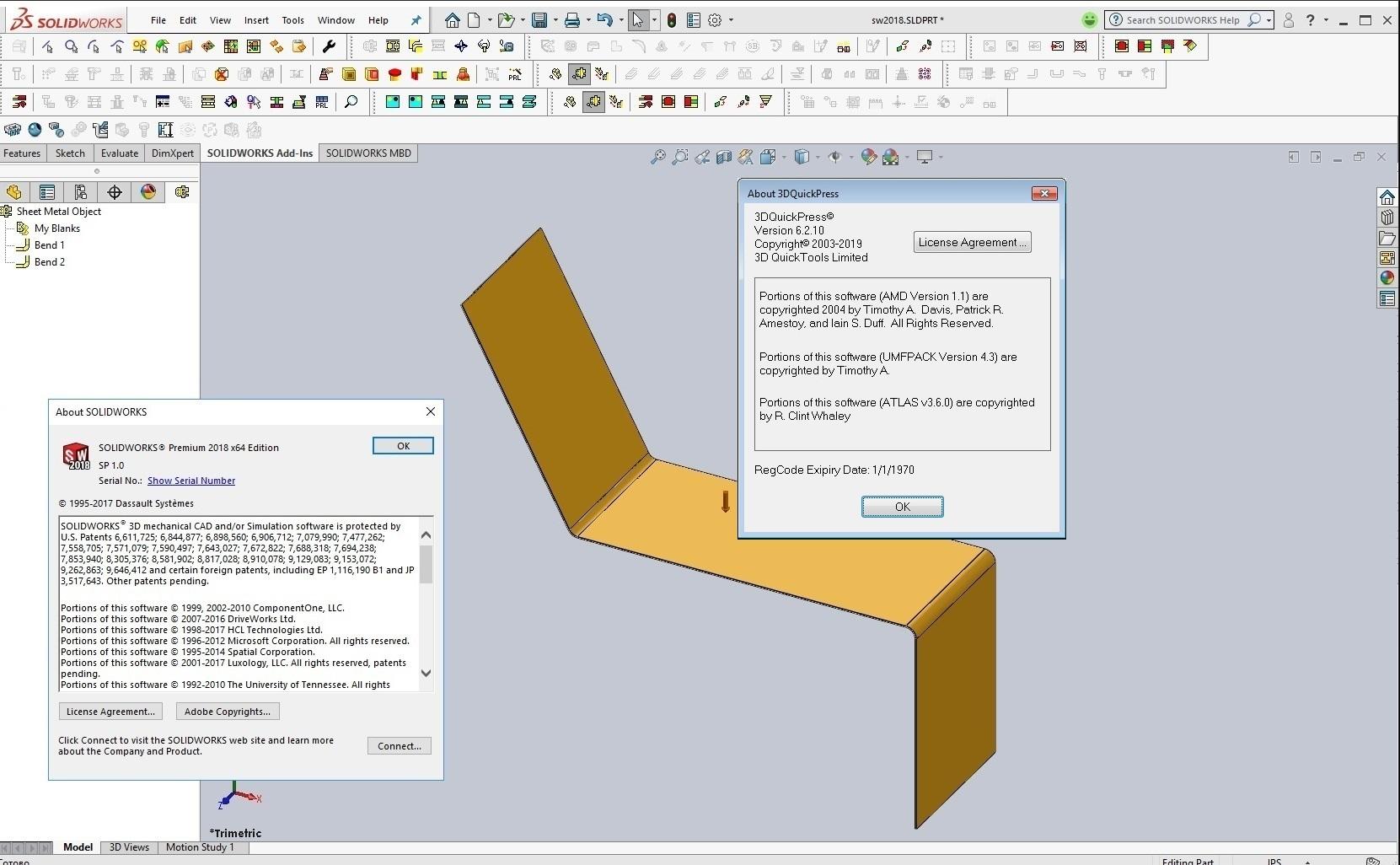 Download 3DQuickPress v6.2.10 for SolidWorks 2012-2019 x64 full license