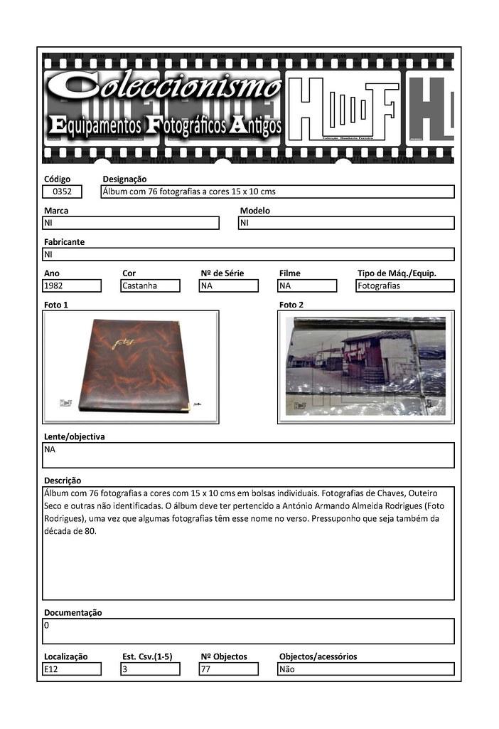 Inventariação da colecção_0352 Álbum com 76 fotografias a cores 15 x 10 cms