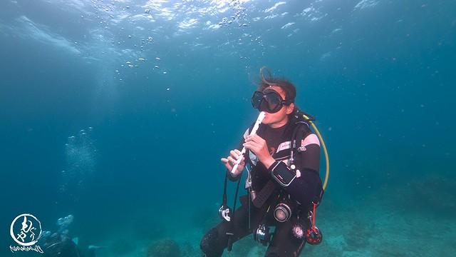 水中でもレコーダーは鳴るらしいw