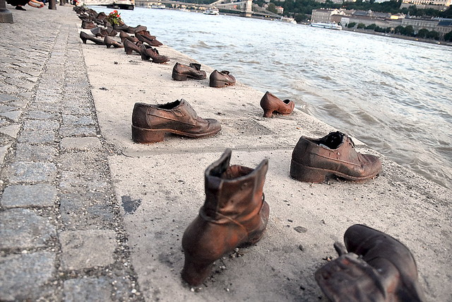 Shoes at Danube River, Budapest, Hungary.