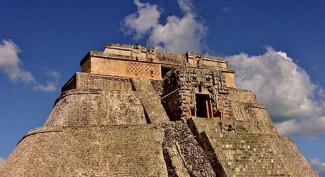 MEXIKO,Yucatán , Uxmal- ehem. Mayastadt ,  Pyramide des Zauberers, 19131/11794