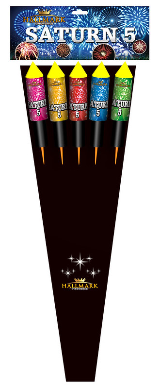 Saturn Five Rockets by Hallmark Fireworks