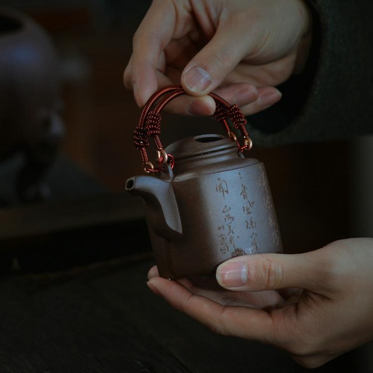 """Yixing """"Si Fang Yang Tong"""" Teapot Capacity around 120CC Made from """"Zi Ni"""" for China Gongfu Tea"""