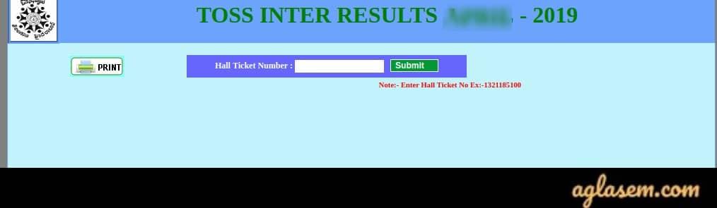TOSS Inter Result Oct 2019