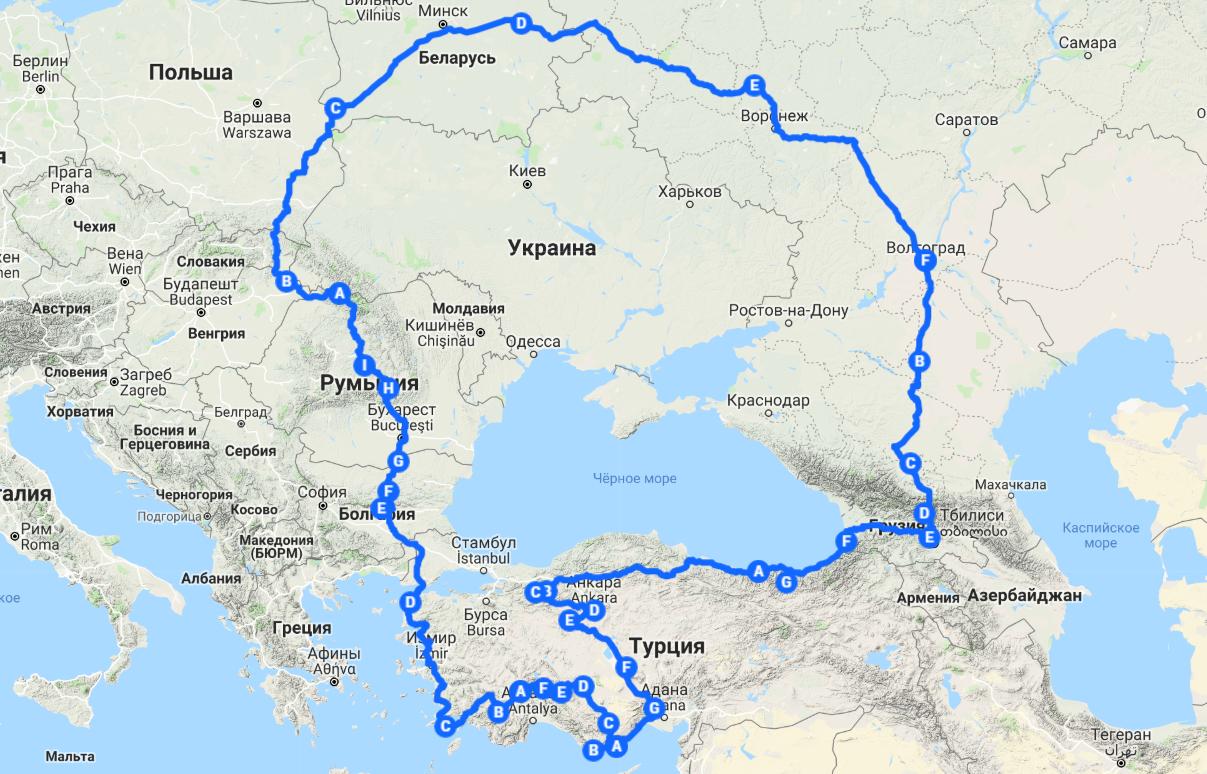 Рисуя автомобилем загадочные узоры на карте Турции. Часть 1