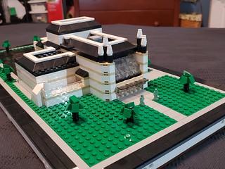Micropolis performance arts theater. Actual build for Brickfair VA 2019.