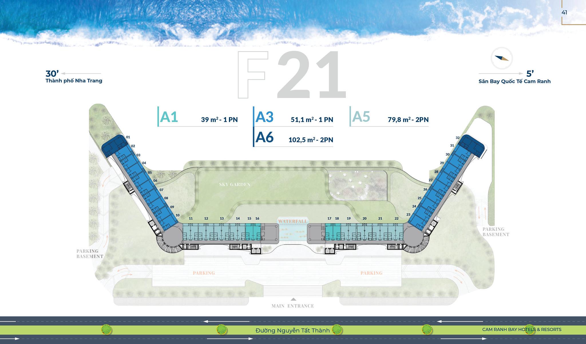 Mặt bằng tầng F21