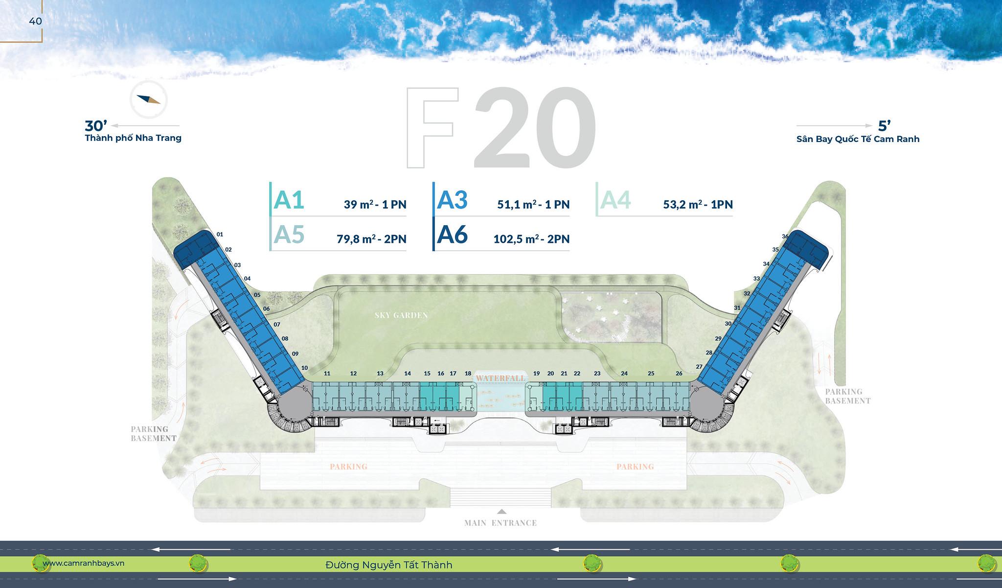 Mặt bằng tầng F20