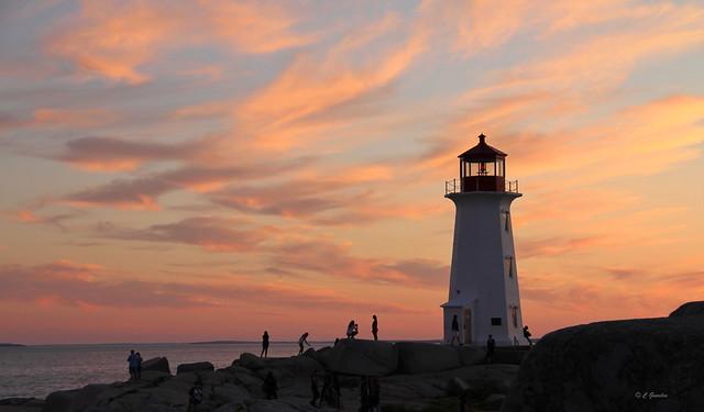 SUNSET | PEGGY'S  COVE | LIGHTHOUSE | ST. MARGARETS BAY | NOVA SCOTIA | NS | CANADA.