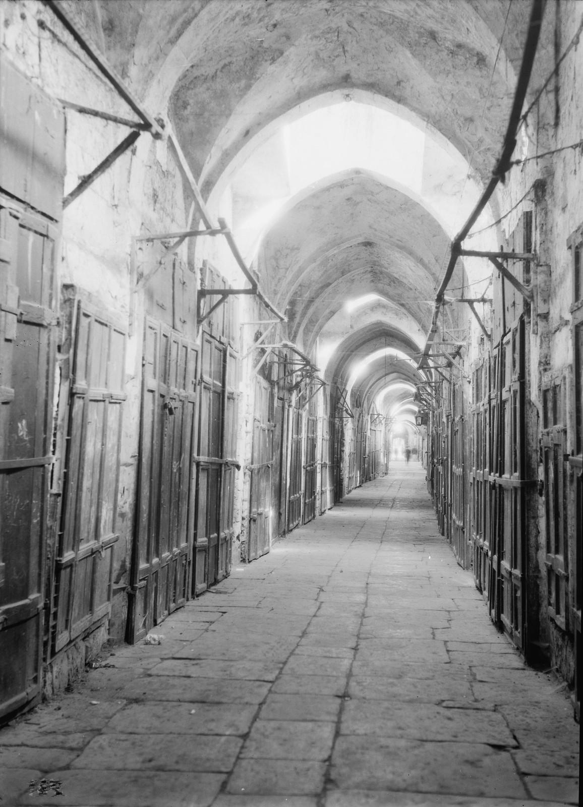 06. Иерусалим. Рынок специй  во время всеобщей арабской забастовки
