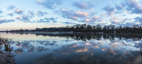 canon6d landscape panorama nature outside outdoors uk cambridgeshire lake water calm clouds sky colour reflection sunrise dawn morning
