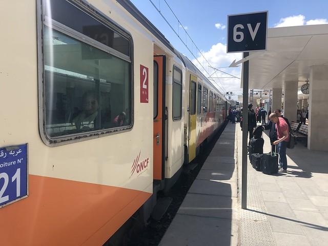 Train at Casablanca Voyageurs railway station