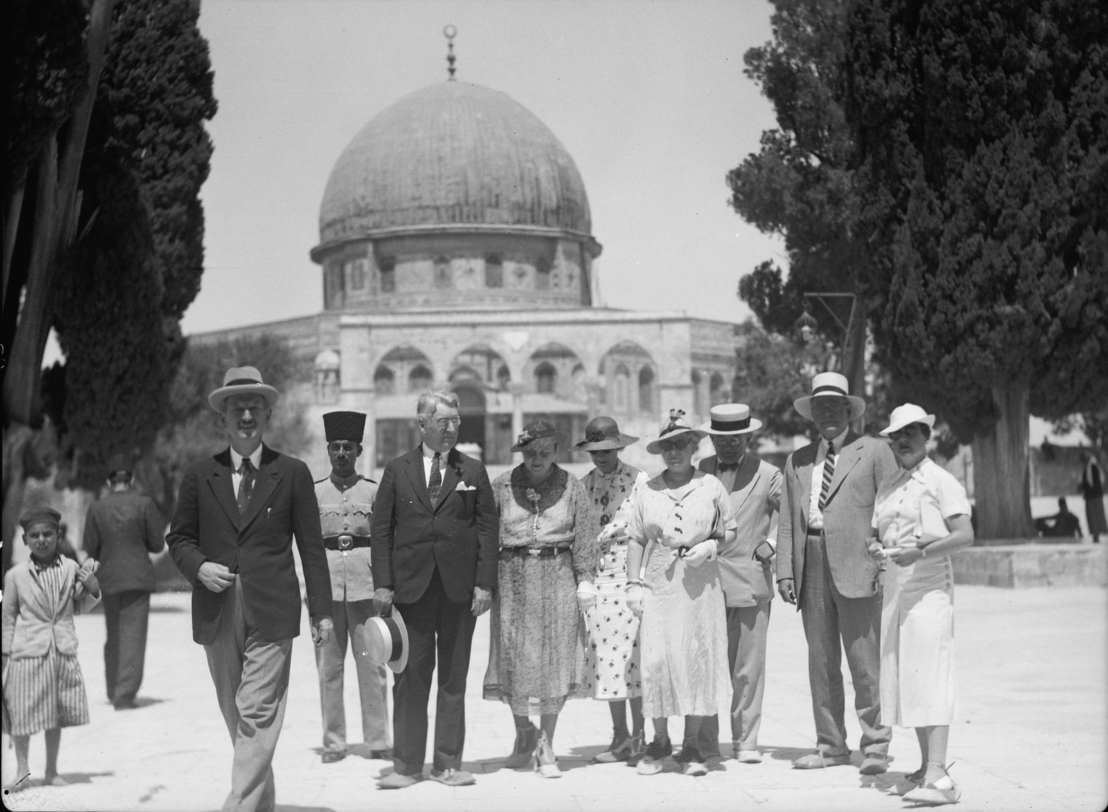 04. Иерусалим. Делегация американских сенаторов и их жен посещает Храмовую гору