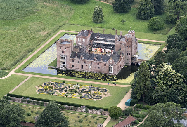 Oxburgh Hall aerial image