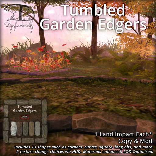 Tumbled Garden Edgers - TeleportHub.com Live!