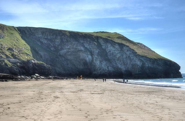 The North Cornish coast at Trebarwith Strand
