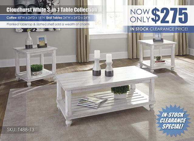Cloudhurst White 3 in 1 Table Set_T488-13_Clearance