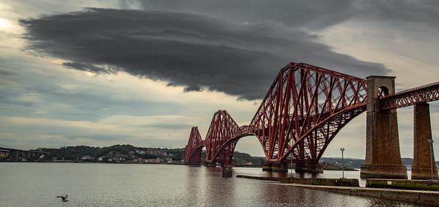 The Forth Railway Bridge & an angry cloud............