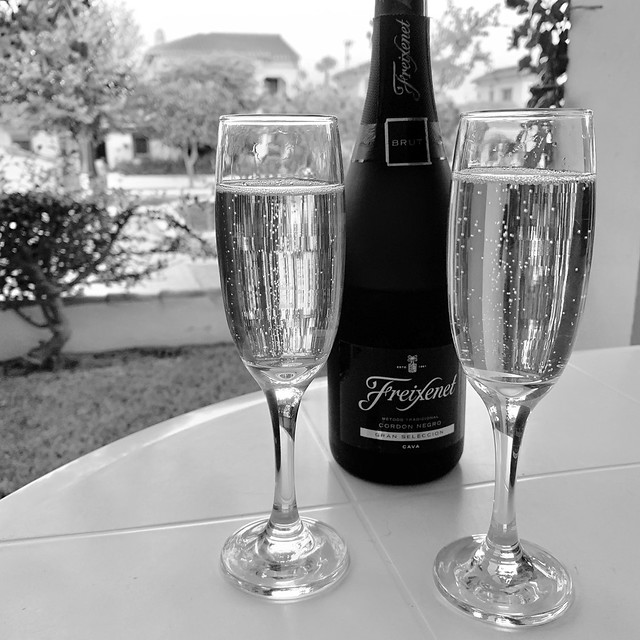 Fizz on our 23rd wedding anniversary!