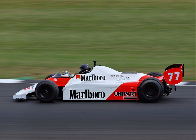 #77 1982 McLaren MP4/1 at Silverstone Classic