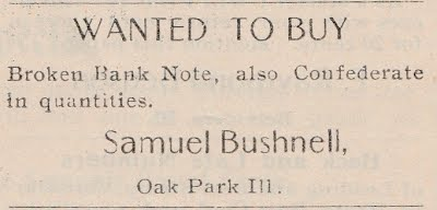 Sam Bushnell ad Philatelic West Feb 1907