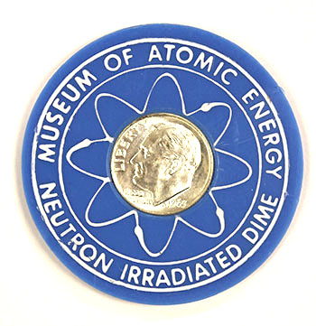 Museum of Atomic Energy Irratiated Dine blle holder obverse