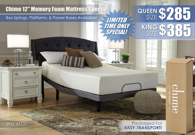 Chime 12in Memory Foam_M727_LimitedSpecial_Special